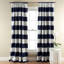 Blackout Navy Curtains Stripe Blackout Window Curtain Set Lush Decor Www Lushdecor