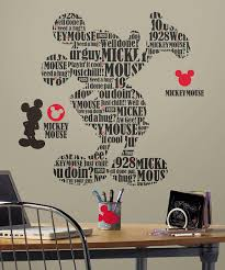 roommates mickey mouse typography decal set zulily women
