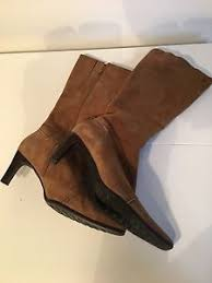 s boots calf length high heeled boots calf length leather suede made in
