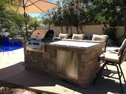 Outdoor Patio Grill Island Outdoor Kitchens And Fire Pits Az Landscape Creations
