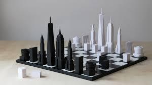 chess set designs new york city chess set boing boing