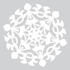 How To Make A Snowflakes Out Of Paper - how to make paper snowflake with tree forest pattern to