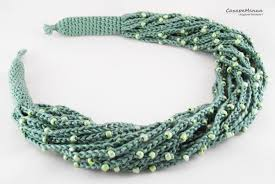 crochet necklace with beads images Casual necklace beads boho style knitting bead birthday gift jpg