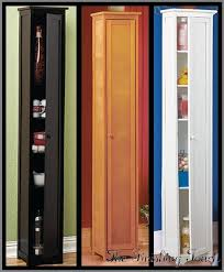 Lakeside Tall Storage Cabinet Narrow Skinny Tall Wooden Cabinet Storage Shelves Wood Pantry