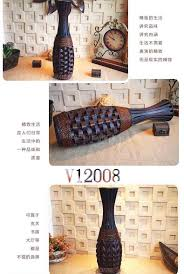 Floor Vases Home Decor Kingart Bamboo Vase Large Floor Vase Vintage Living Room Home