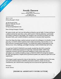 example of medical assistant cover letter medical assistant