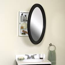 Bathroom Mirrors And Medicine Cabinets Zenith Bmv2532bb Oval Mirror Medicine Cabinet