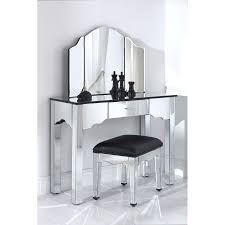 Unique Mirrors For Bathrooms by Corner White Wooden Vanity Table With Hidden Storage And Square
