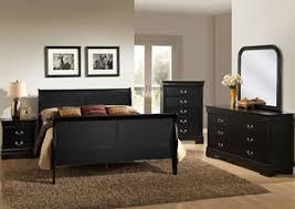 mack u0027s furniture warehouse louis black queen sleigh bed w dresser