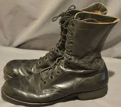 s boots combat 1969 era leather army combat motorcycle biker