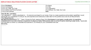 football player cover letters