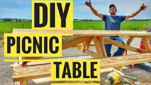 Make A Picnic Table Free Plans by How To Make A Picnic Table Free Picnic Table Plans Youtube