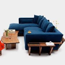 Blue Sectional With Chaise Velvet Sectional Sofas You U0027ll Love Wayfair