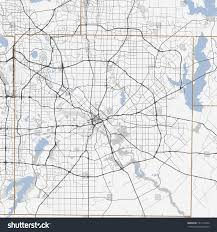 Map Dallas Black White Map Dallas City Texas Stock Vector 541211854