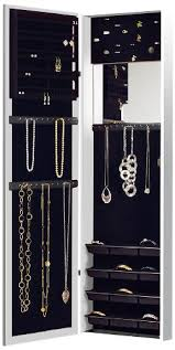 Anti Tarnish Jewelry Armoire Door Hanging Jewelry Box