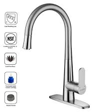lead free kitchen faucets lutavoy d3041 faucet for kitchen single handle stainless steel high