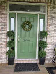 painting exterior doors ideas paintcolor front door paint green