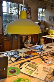 stained glass work table design classic rlm warehouse shade brings light to stained glass blog