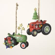 club pack of 12 farmers tractor ornaments 3 25