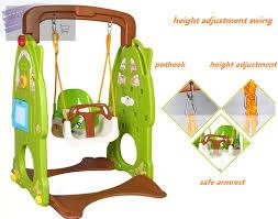 baby swing swing set kids plastic slide swing set outdoor basketball dard board toys