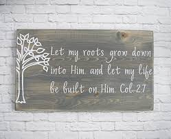 christian wood sign bible verse wall wood wall
