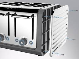 Dualit 4 Toaster Dualit Architect 4 Slot Toaster 40526 Stainless Steel With Grey