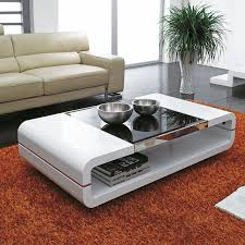 Ebay Living Room Sets by Design Modern High Gloss White Coffee Table With Black Glass Top