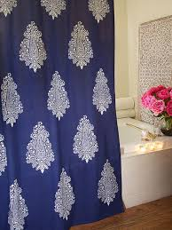 Black And White Paisley Shower Curtain - best 25 navy blue shower curtain ideas on pinterest navy shower