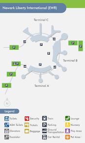 newark map newark airport ewr terminal map