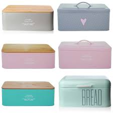 Pink Kitchen Canisters Bread Holder Bin Box Vintage Design Home Kitchen Storage Container
