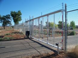 cantilever gates industrial aluminum cantilevered gate