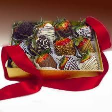 White Chocolate Covered Strawberry Box Decadent Chocolate Strawberries Gift Box Dark Almonds And