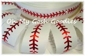 baseball ribbon yellow softball softball ribbon softball bow glitter ribbon