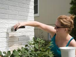 Painting Brick Exterior House - choosing the right type of paint for all types of materials diy