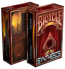 synthesis cyberpunk themed bicycle cards