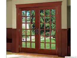 Wooden Patio Door Blinds wooden sliding glass door blinds oak sliding patio doors wood