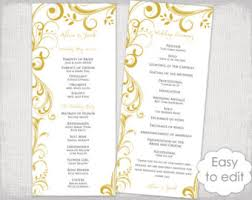 print at home wedding programs winter wedding program template snowflake wedding