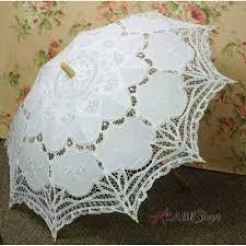 white battenburg lace victorian gothic parasol