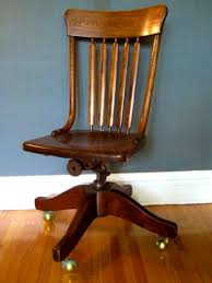 Vintage Swivel Chair Wood Office Chair Plans Chairs Casters For With Wheels Without