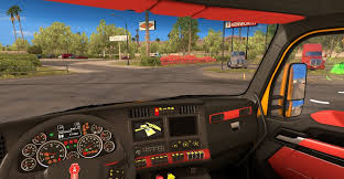used kw t680 kenworth t680 reddy interior for ats american truck simulator