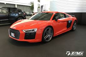 audi r8 ads all new to the tag motorsports stable 2017 dynamite red v10 plus