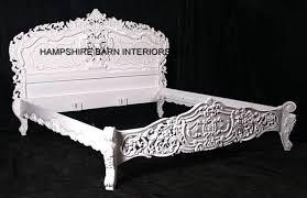 Rococo Bed Frame Antique White Rococo Bed Hshire Barn Interiors
