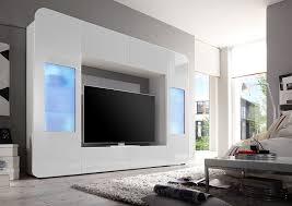 Wohnzimmerschrank Folieren Wohnwand Weiss Hochglanz Amazon De Küche U0026 Haushalt