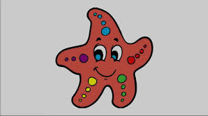 drawing starfish and coloring pages for kids drawing and