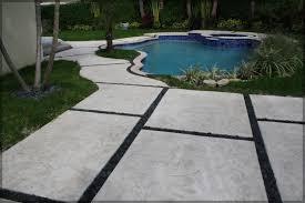 Concrete Slabs For Backyard by Stamped Concrete U0026 Pads Driveway Patio U0026 Pool Pavers Pembroke