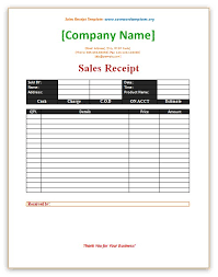 sales receipt template save word templates