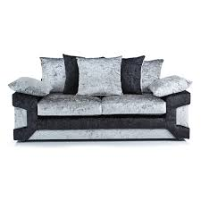3 Seater And 2 Seater Sofa Crushed Velvet Furniture Sofas Beds Chairs Cushions