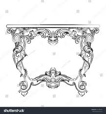 royal baroque vector classic table furniture stock vector