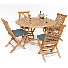 Teak Garden Benches Round 4 Seat Folding Teak Garden Furniture Set Internet Gardener