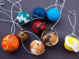 diy outer space planet ornaments for pink stripey socks